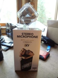 Rode iXY Stereo mic packaging